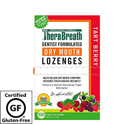 TheraBreath Dry Mouth Lozenges, Tart Berry Flavor, 100 Lozenges