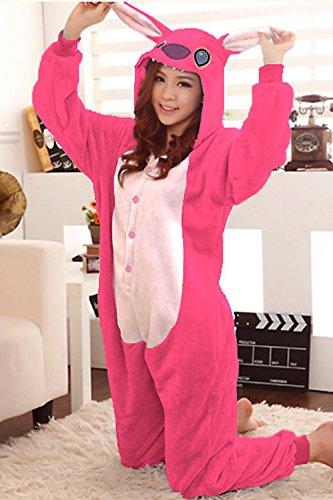 design senza tempo sfumature di sconto Kigurumi Costume pigiama Stitch rose cosplay rosa Medium ...