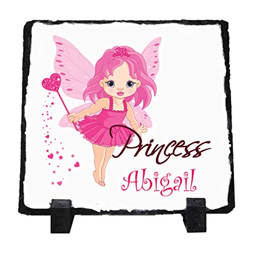 Personalized Custom Text Fairy Princess Stone Slate Plaque Picture - Personalized Plaque Princess