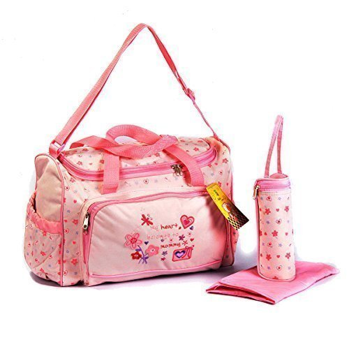 GMMH XXL Set of 3?Pink Baby Changing Bag for on the go Selection of Colours by GMMH