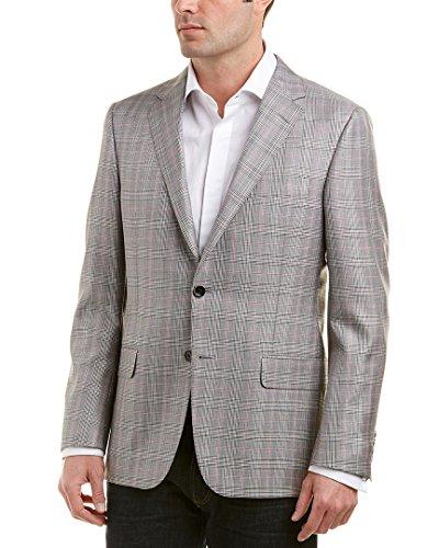 Hickey Freeman Mens Milburn Ii Wool & Silk-Blend Sportcoat, 40R, Red