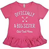 Officially A Big Sister: Girls LAT Ruffle Fine Jersey Tee