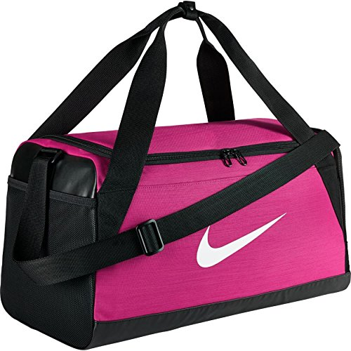 Nike Brasilia (Small) Training Duffel Bag (Pink/Black/White) ()