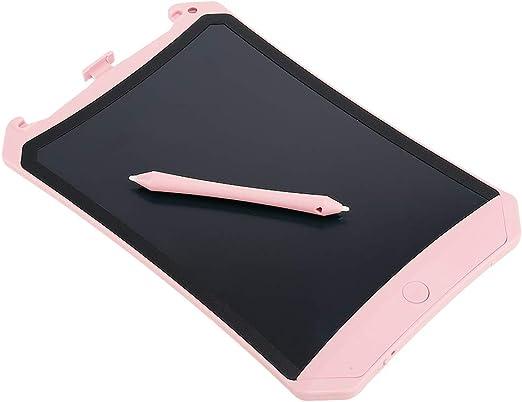 スタイラスペンが付いている電子落書きパッド、8.5インチの手書きの紙の描画タブレットのライティングボード、LEDバックライトなし、子供と大人のためのギフト、自宅、学校、オフィス(ピンク)