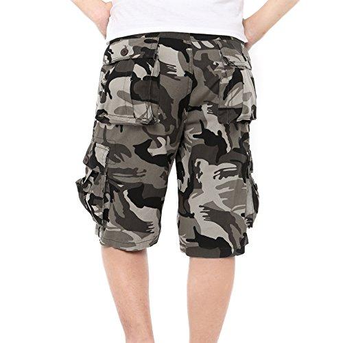 bb2b24ba2c85 Just No Logo Herren Cargo Shorts kurze Hosen Camo Bermuda Bundhose   Amazon.de  Bekleidung