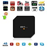 Kekilo M9 Plus TV Box Amlogic S905 Quad Core Android 5.1 2G 16G Dual WIFI 2.4G/5G 4K H.265 with Bluetooth 4.0 100/1000M Ethernet Streaming Media Player(Black)