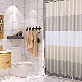 juyou Fabric Shower Curtain for Bathroom Waterproof and Mildew-Resistant Textile,Striped Design,71'' W×71'' L