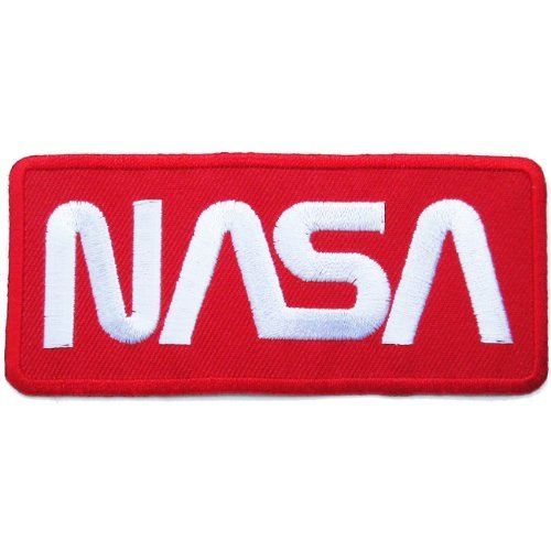 Nasa Clothing Patch (NASA Badge Iron on Patches #Red-White)