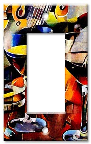 Art Plates 1-Gang Rocker  OVERSIZE Switch Plate/OVER SIZE Wa