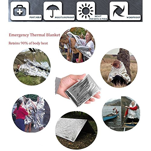 MOYUN Emergency Survival Gear Kits 13 in 1 Multi Professional Outdoor Survival Tool with Fire Starter Knife Whistle Flashlight Tactical Pen etc for Travel Hike Field Camp Wild Survival Hunting