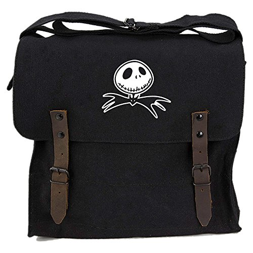 Jack Nightmare Before Christmas Bat Canvas Medic Shoulder Bag in Black