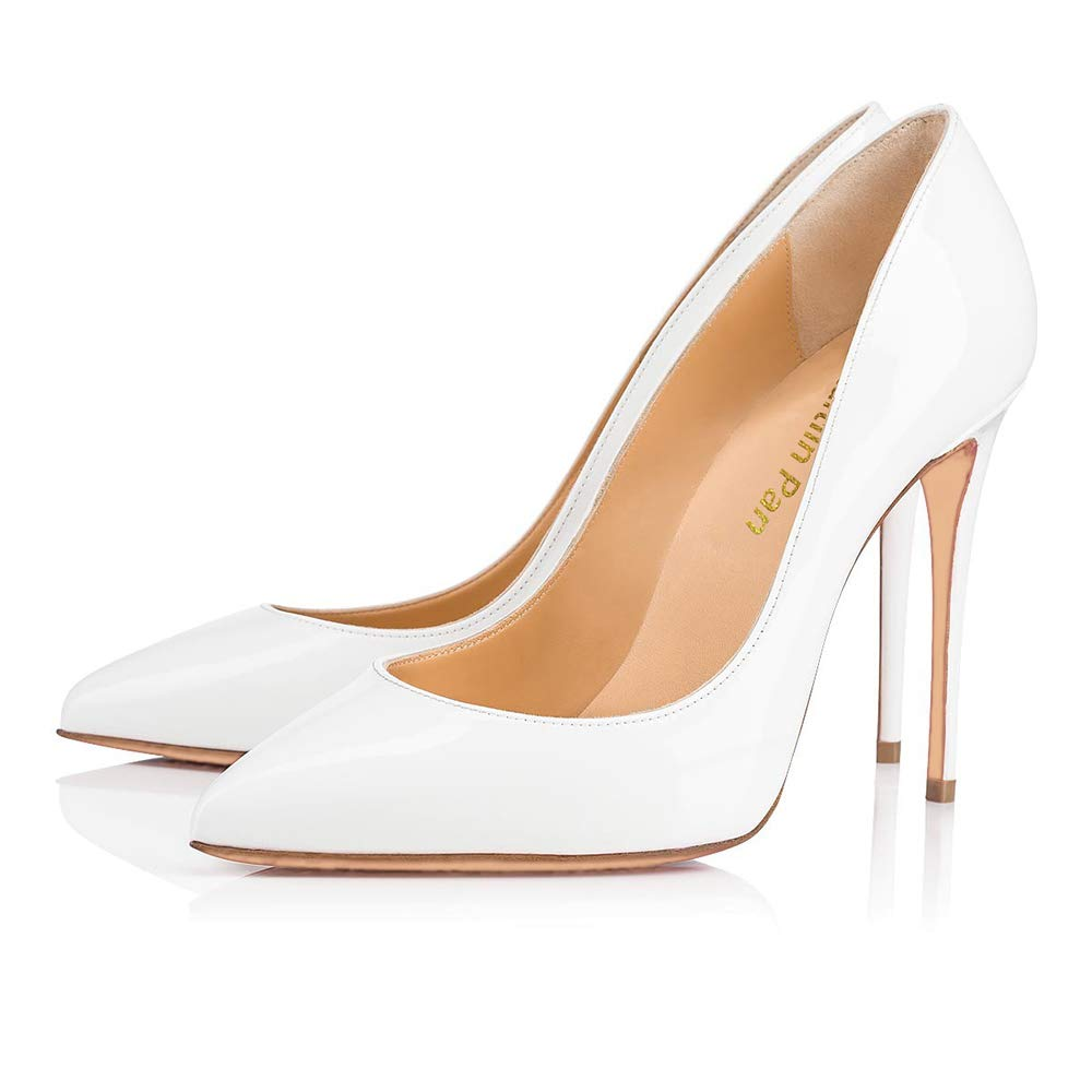 Caitlin Pan Femmes Talon EscarpinsTalons/10 Hauts Slip on Bout CM Pointu/Bout Ouvert Semelle Rouge 6,5CM/10 CM/12 CM Pompes Talon Aiguille Chaussures de Bal White Patent-10cm/Semelle Rouge 61c4eaa - piero.space