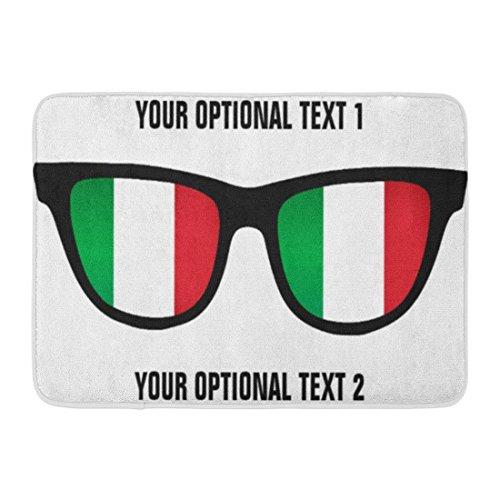 Ablitt Bath Mat Italy Italian Shades Custom Flag Glasses Cool Travel Bathroom Decor Rug 16
