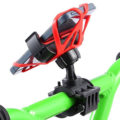 Timer Mount (MorinCo Universal Bike Mount Holder with 360 Degree Rotation for iPhone 6+ 6s 6 5s 5c 4, Samsung Galaxy S7 S6 S5 S4, Note 3/2, Google Nexus 5/4. Great For GPS and Phone Timer. Cradle for Phone)