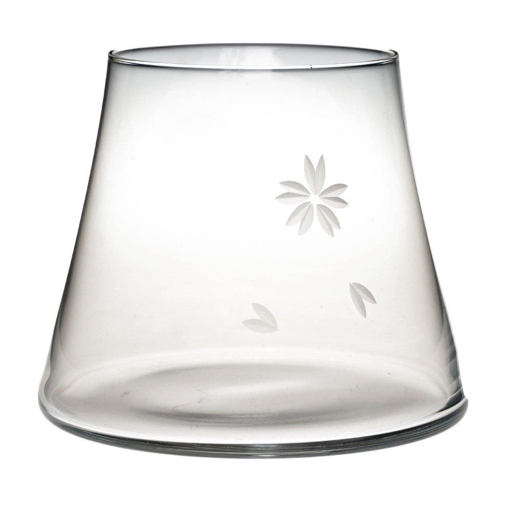 Fujiyama MT。Fuji Mountainビールガラス、手吹き飲酒ガラスをチェリーBlossoms [ Japanese Crafts Sakura ] 透明 100110-$P B0745X59ZZ 透明