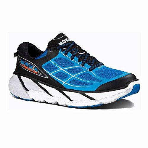 Hoka One One Mens M Clifton 2 Directoire Blue/Flame Running Shoe 12 Men US