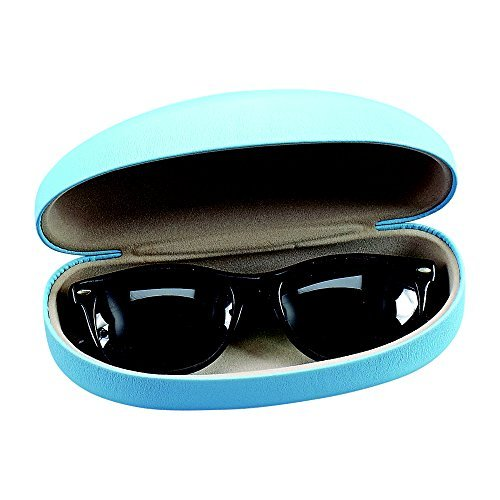 Baby Blue Eyeglass Case W/ Hinge, by - Mall Pacific Eyeglasses