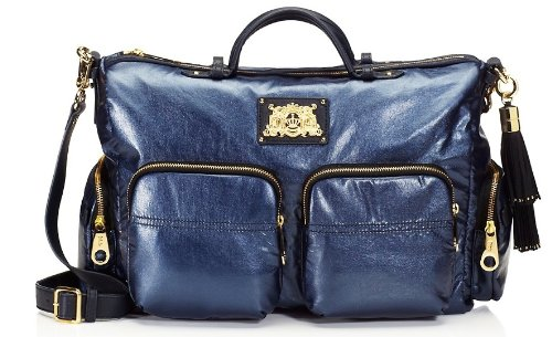 Juicy Couture Sienna YHRU3378-416 Satchel,Shimmer Navy,One Size, Bags Central