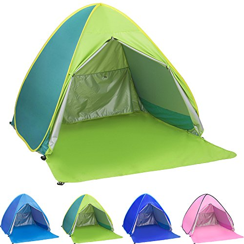 Air Spring Assembly - Ylovetoys Pop Up Beach Tent, 2-3 Persons Instant Beach Tents Sun Shelter Anti-UV Cabana Shade Waterproof Family Tent for Beach Camping Fishing Hiking or Picnic (Green)