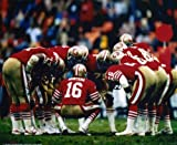 JOE MONTANA SAN FRANCISCO 49ERS 8X10 SPORTS ACTION HUDDLE PHOTO