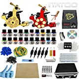 ITATOO Complete Tattoo Kit with Case Tattoo Power Supply Kit 20 Tattoo Inks 50 Tattoo Needles 2 Pro Tattoo Machine Kit Tattoo Supplies Tattoo Kit for Beginners TK1000012