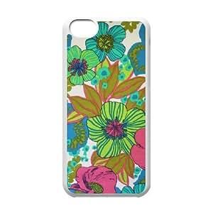 MMZ DIY PHONE CASEVintage Flower ZLB544440 Personalized Phone Case for ipod touch 5, ipod touch 5 Case