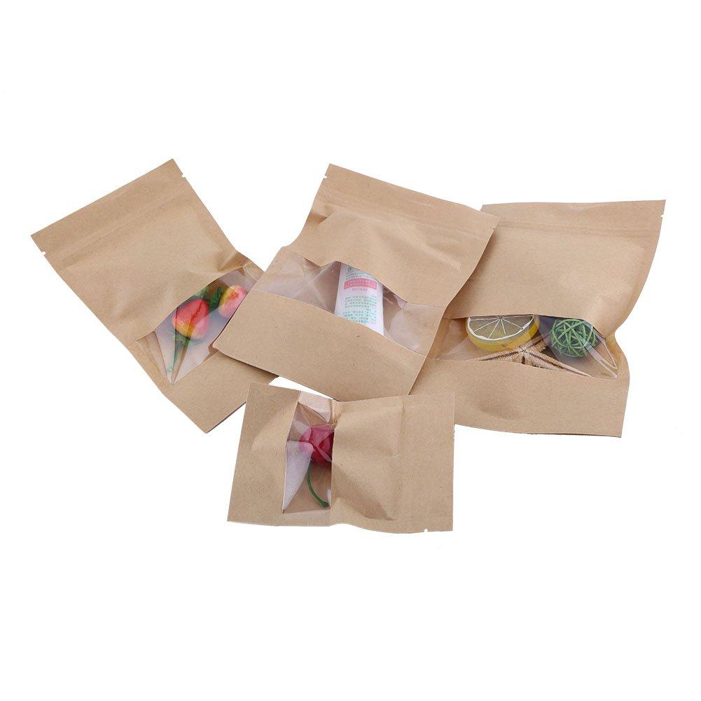40 bolsas de papel Kraft para alimentos, bocadillos y ...