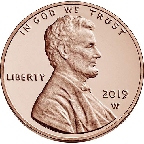 2019 W Proof Lincoln Cent Penny-With Envelope//COA Gem Proof-West Point Mint