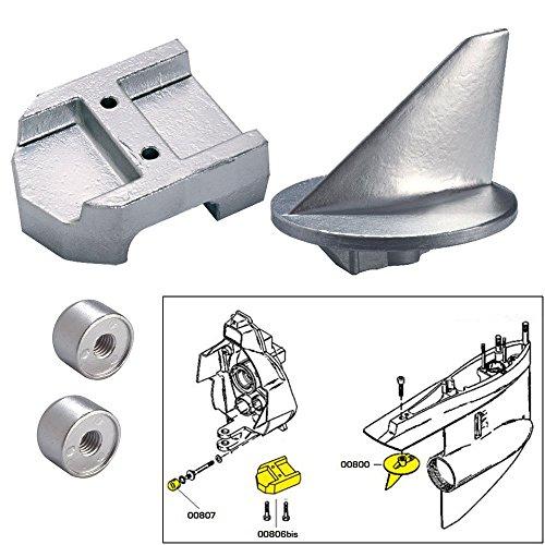 Tecnoseal Anode Kit w/Hardware - Mercury Alpha 1 Gen 1 - Magnesium (52025)