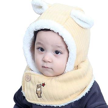 8a6526cc90a Winter Children s Hat Baby Cotton Hat One-Piece Wool Hat Plus Velvet Suit  to Protect