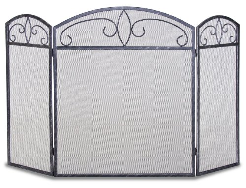 Pilgrim Home and Hearth 19233 Napa Forge Forged Crest Screen Brushed Pewter