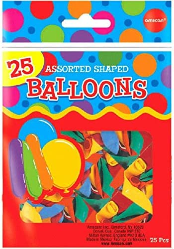 [해외]Assorted Shapes Latex Balloons | Pack of 25 | Party Decor / Assorted Shapes Latex Balloons | Pack of 25 | Party Decor
