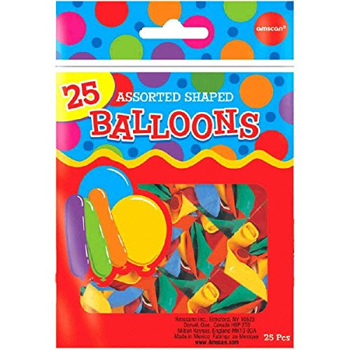 Assorted Shapes Latex Balloons | Pack of 25