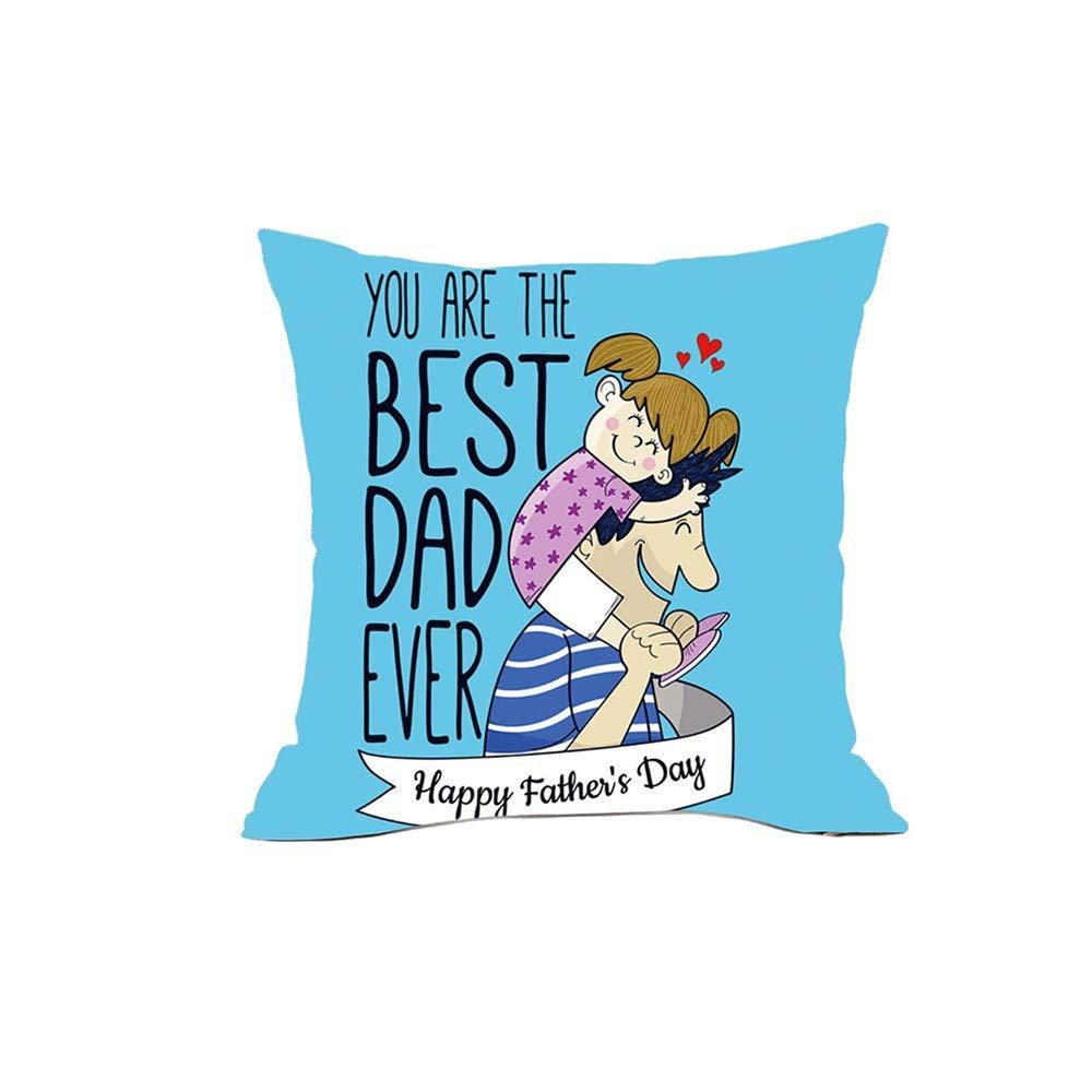 WWFFOO - Fundas de almohada cuadradas para el día del padre ...