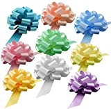 """Big Easter Gift Basket Pull Bows - 9"""" Wide, Set of 9, Light Pink, Blue, Yellow, Lavender, Bows for Gifts, Christmas Presents, Boxing Day, Valentine's Day, Birthday, Fundraiser, School Dance: more info"""