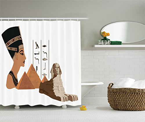 Ambesonne Egyptian Collection llustration Polyester
