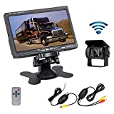 "RC 12V 24V Car Vehicle Rear View Wireless IR Night Vision Backup Camera Waterproof Kit + 7"" TFT LCD Monitor Parking Assistance System For Truck / Van / Caravan / Trailers / Camper"