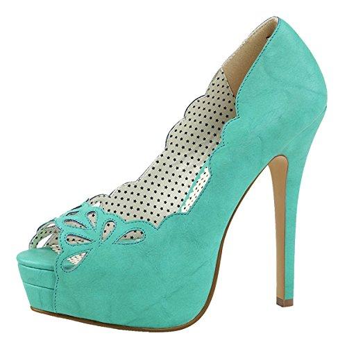 Heels-Perfect - Zapatos con tacón Mujer Blau (Blau)