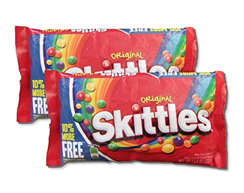 Skittles Original Bite Size Candies - 15.4 oz. Larger Size (Pack of 2)