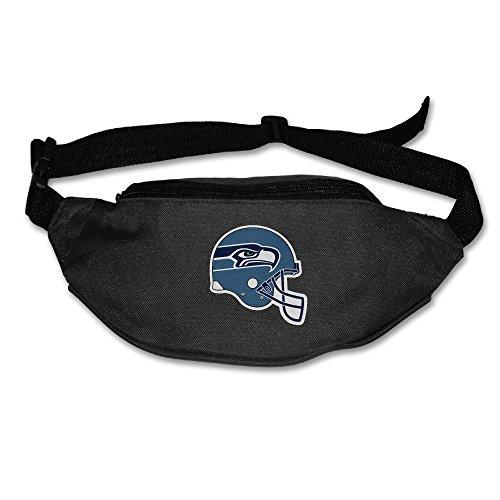 AUSIN Unisex-Adult Seattle Sport Logohawks Traveling Waist Travel Pocket Black (Philips 29 Smart Tv)