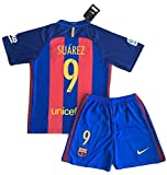 2016-2017 Luis Suarez #9 New FC Barcelona Home Jersey & Shorts for Kids/Youth (7-8 Years Old)