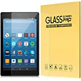 "MoKo All-New Fire HD 8 Screen Protector, [Scratch Terminator] Premium HD Clear 9H Hardness Tempered Glass Screen Protector Film for Amazon Fire HD 8"" Tablet (7th and 8th Gen, 2017 and 2018 Release)"