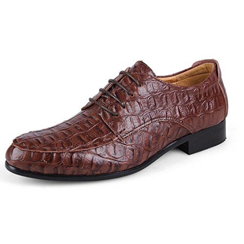 De De Zapatos Cocodrilo Negocios amp;M Departamento Brown del Zapatos del Casual Cordones De M Zapatos Hombre ConduccióN Modelo ZE1qE0