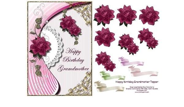 Feliz cumpleaños abuela Tarjeta Topper por Mary Jane Harris ...