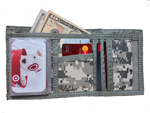 - Tri-fold ACU Army/Navy Velcro Camouflage Wallet Commando (Pack of 1)