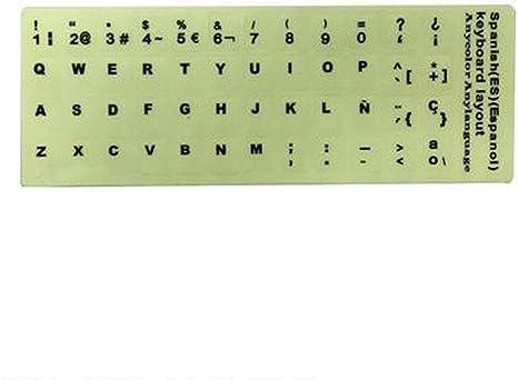 LUGEUK Etiquetas engomadas del Teclado de un Idioma ...