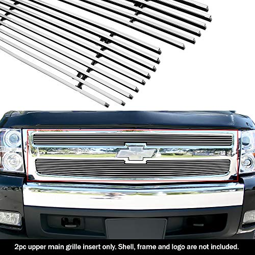 (APS Fits 2007-2013 Chevy Silverado 1500 Billet Grille Grill Insert #C65766A)