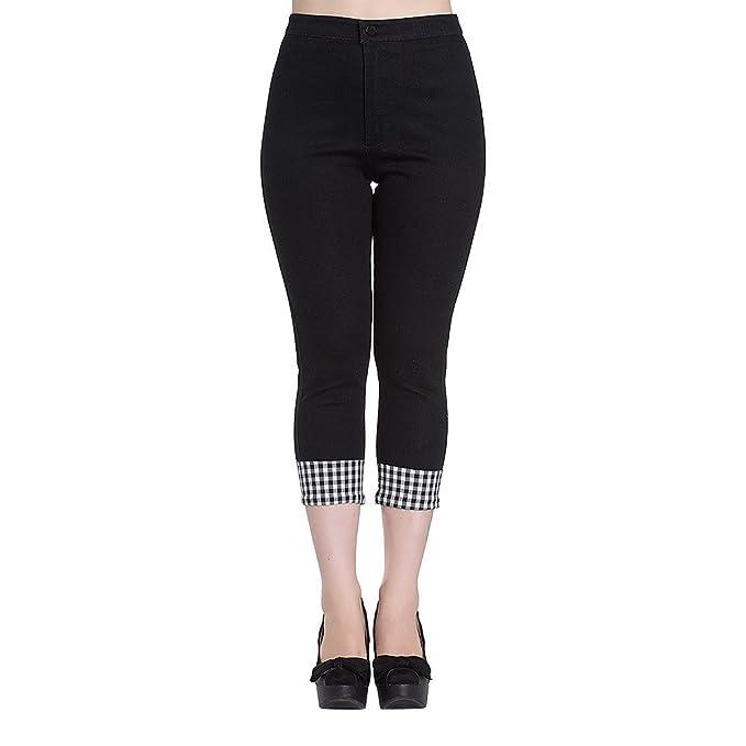 Hell Bunny Womens Ladybird Capri Pants $55.70 AT vintagedancer.com