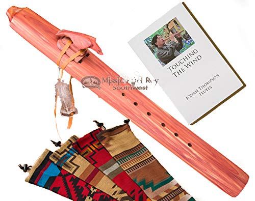 Native American Cedar Drone Flute Pack -Eagle & Bag