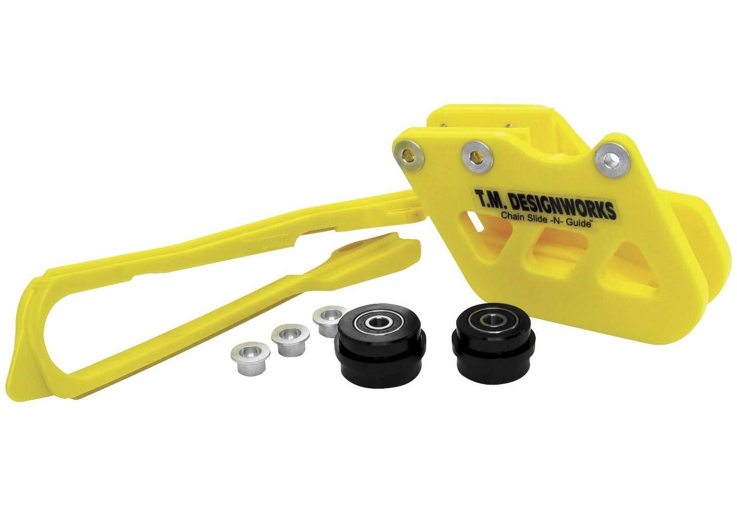 TM Designworks Dirt Chain Slide-N-Glide Yellow for Suzuki RM//X//Z